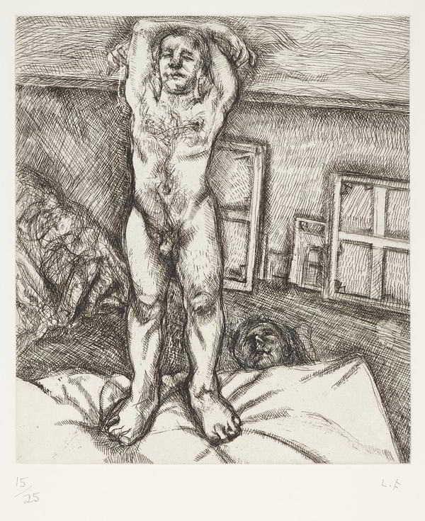 Lucian Freud-Two men in the Studio-1989