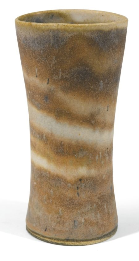 Lucie Rie-A Flared Mixed Clay Vase-