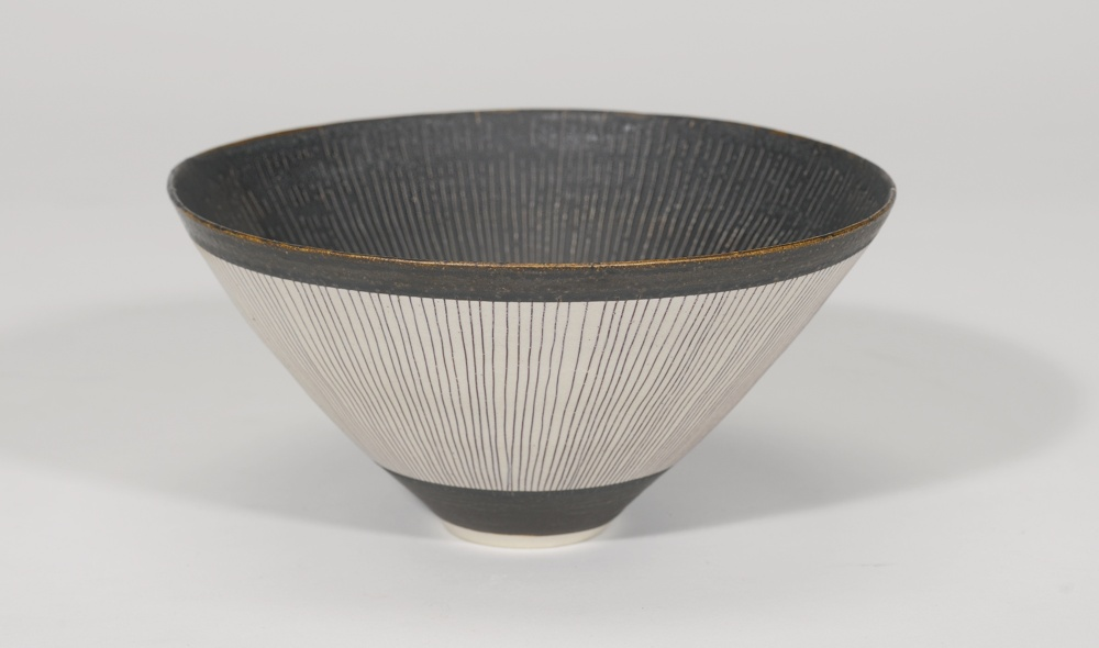Lucie Rie-A Footed Conical Bowl-1970