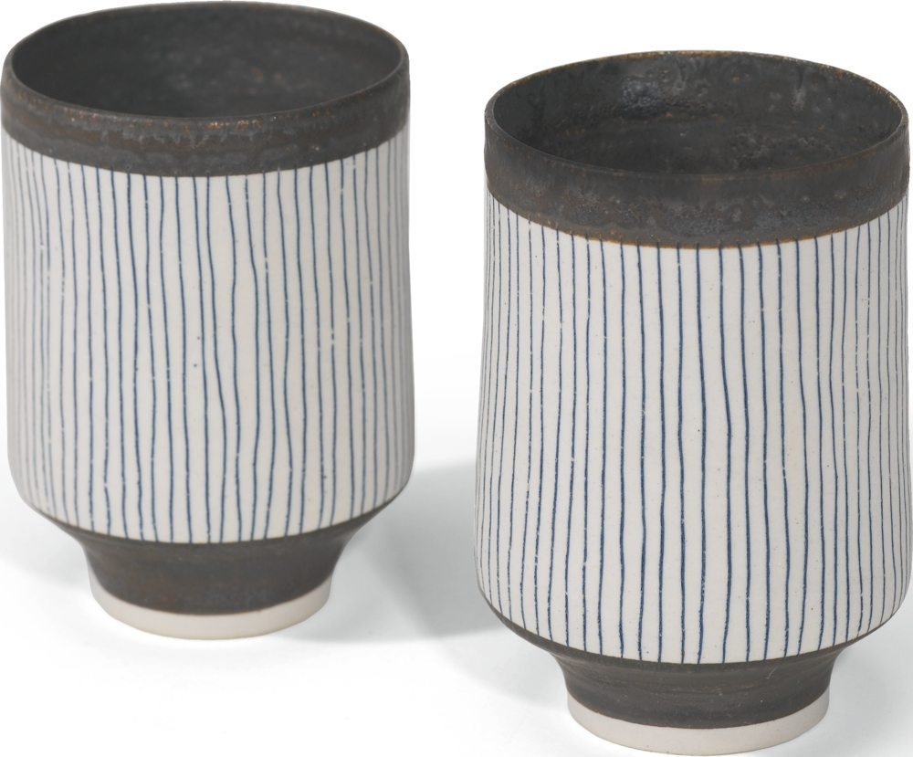 Lucie Rie-Two Small Vase Forms-