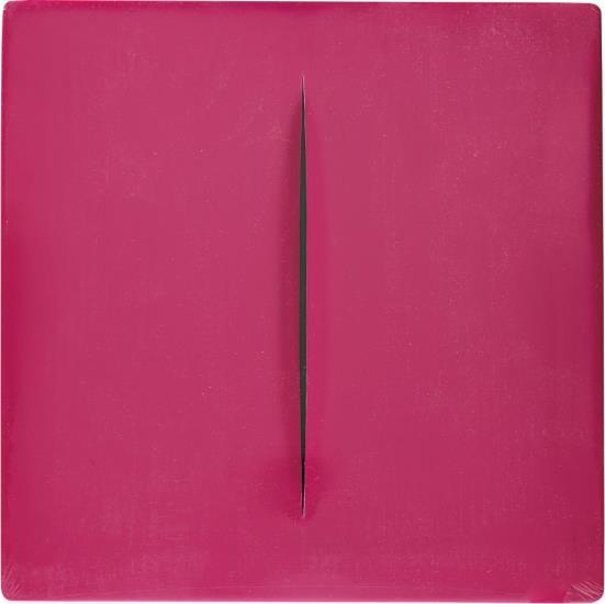 Lucio Fontana-Concetto Spaziale (rosa)-1968