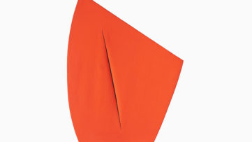 Lucio Fontana - Spatial Concept, Expectation (Concetto spaziale, Attesa), 1959