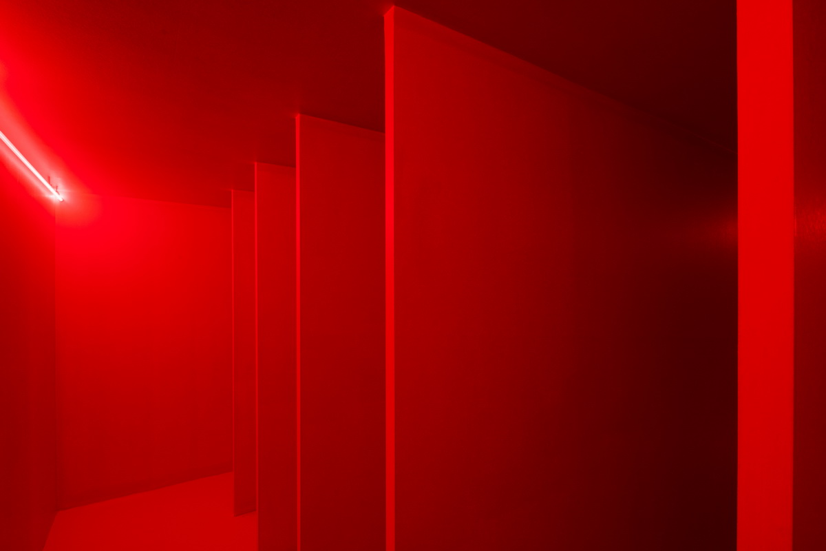 Lucio Fontana - Spatial Environment in Red Light