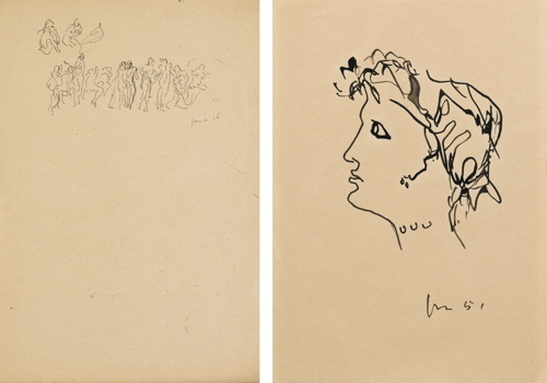 Lucio Fontana-Studio Di Di Figure-1936