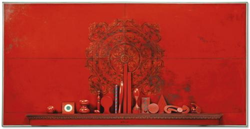 Lucio del Pezzo-Rosso Veneziano-1965