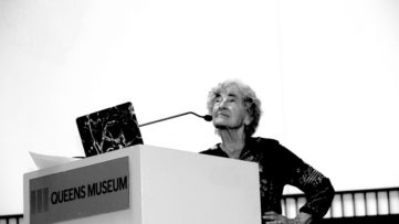 Lucy Lippard gives lecture at the Queens Museum