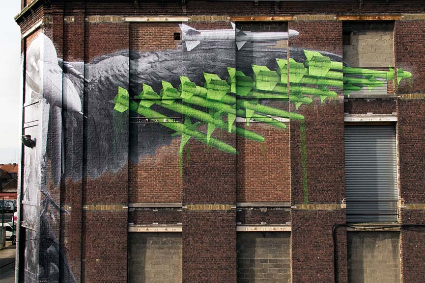 new mural by ludo