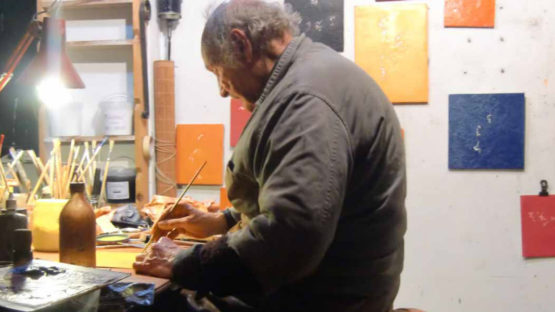 Luigi Boille in his studio, photo via artslife.com
