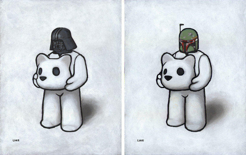 Luke Chueh - Headspace (Darth Vader), 2015 - Headspace (Boba Fett), 2015, print and prints