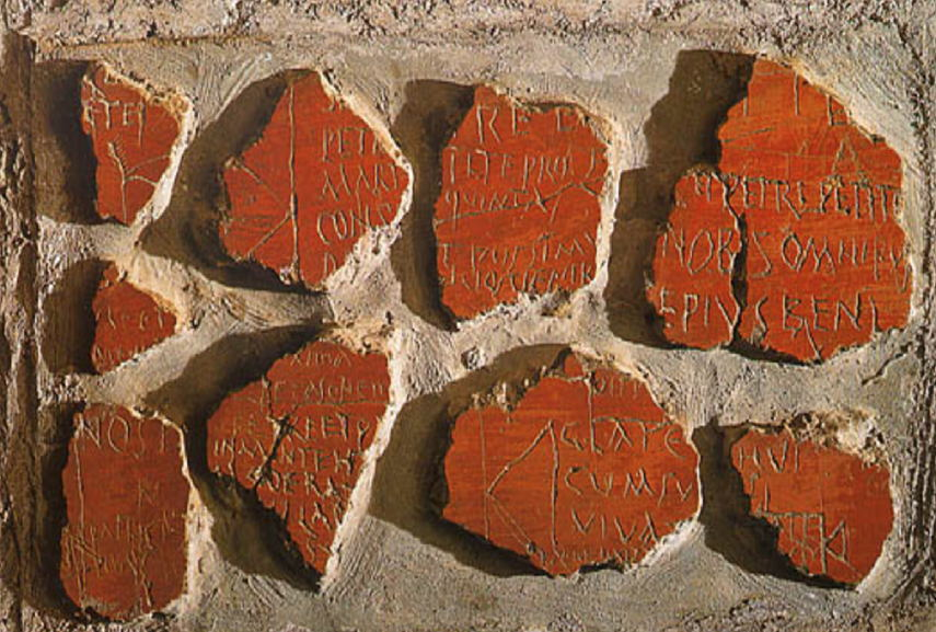 Roman people like writing inscriptions