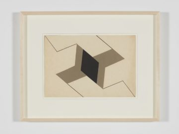 Lygia Clark - Estudo para Planos em superfície modulada (Study for Planes in modulated surface), 1957 - this april at dallas art fair