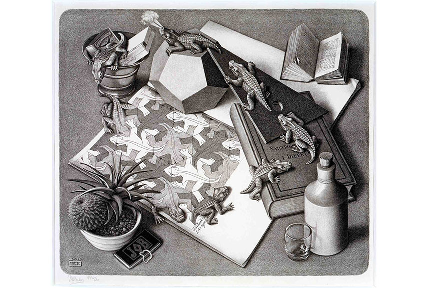 Tessellation art of M.C. Escher