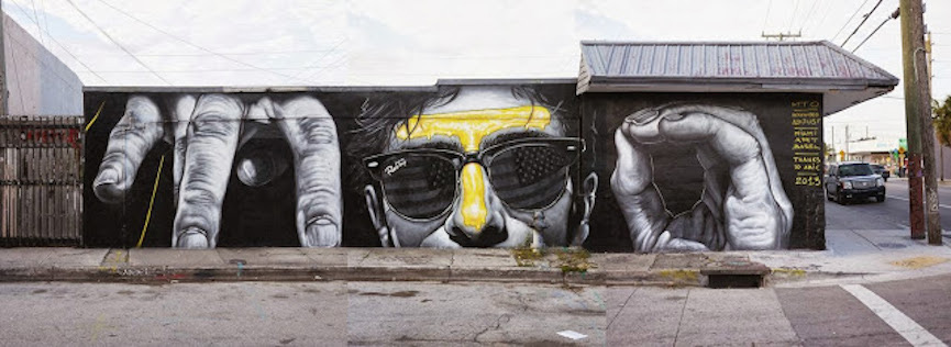 MTO mural in Sarasota Florida, view, optical, anamorphic, illusion, painting, video