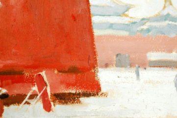 Ma Kelu - Snow at Wumen Gate (Detail)