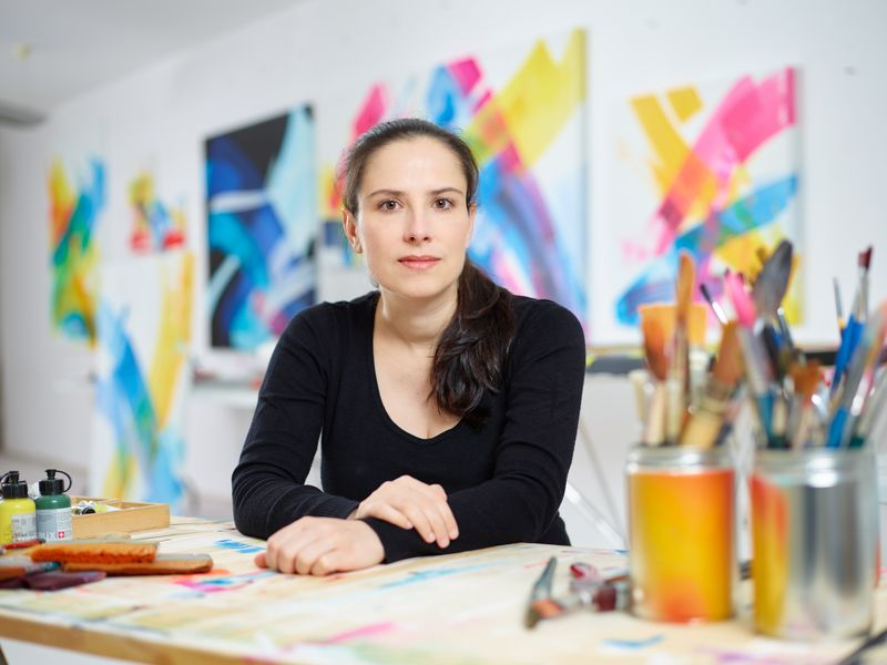MadC in her studio in 2016. Photo: Marco Prosch