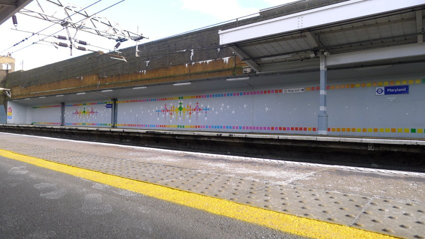 Mademoiselle Maurice - Rainbow Road, Maryland Rail Station in London, 2016