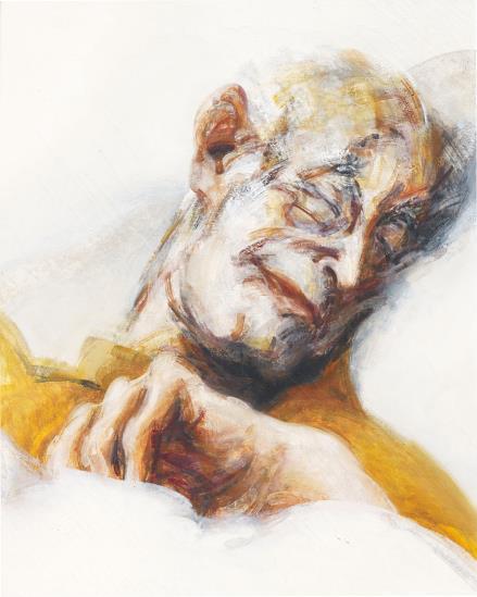 Maggi Hambling-Lett Asleep-1978