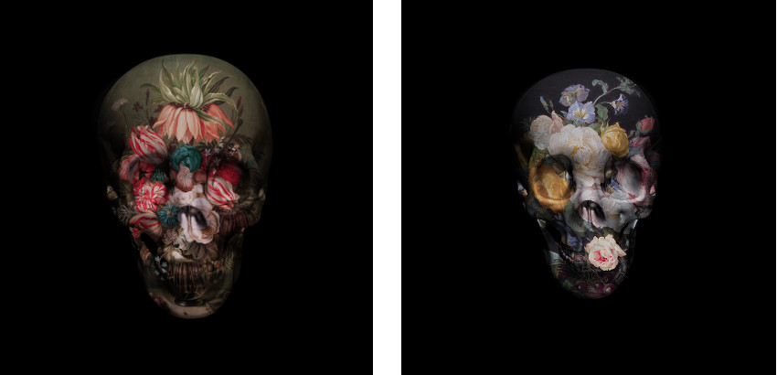 Magnus Gjoen - Everything Ends with Flowers, 2015 (Left) / Roses are Dead, 2013 (Right)