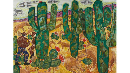 Maija Peeples-Bright - Dingos and Diggers in the Desert, ca. 1980