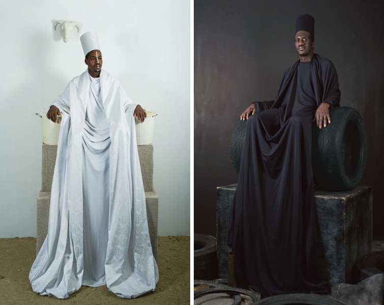 Maimouna Guerresi - Throne in White, 2016 - Maimouna Guerresi - Throne in Black, 2016