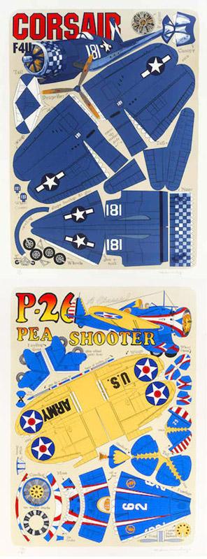 Malcolm Morley-Corsair F4U; P-26 Pea Shooter-2001