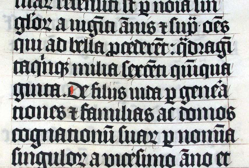 how to define calligraphy in Malmesbury Bible - Image via wikimediaorg