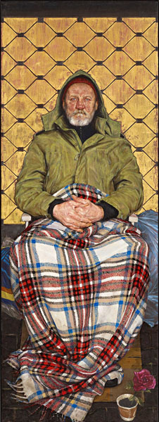 Thomas Ganter - Man with a Plaid Blanket