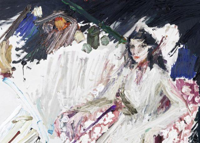 Manoucher Yektai - Portrait of Iris Clert (detail), 1960 - image via via artnews.com