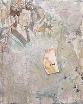 Mao Lizi-Vandalized Mural, Dunhuang-1991