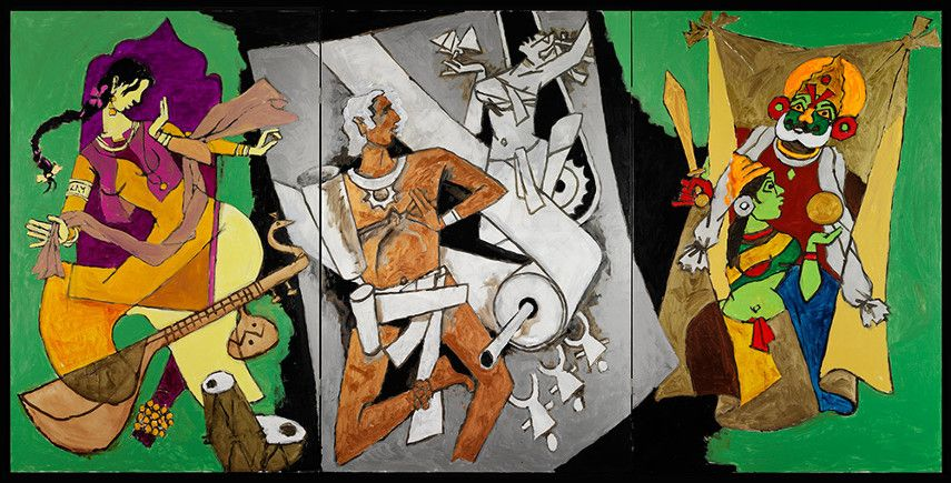 Husain new home Indian mumbai painting film topics work and works in gallery years 2010, 2011