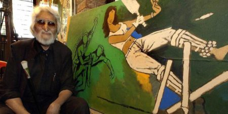 Maqbool Fida Husain, artist, photo credits - Web Neel