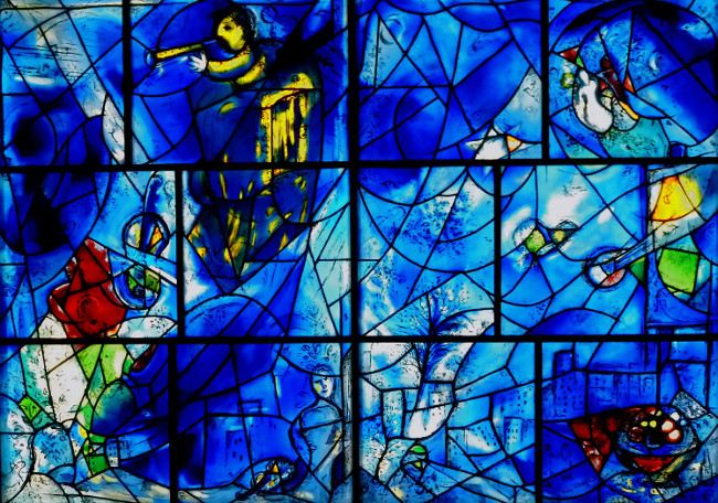 Marc Chagall - America Windows, Art Institute of Chicago, 1977, photo credits - Marc Chagall Art