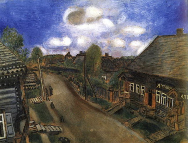 Marc Chagall - Apothecary in Vitebsk, 1908, photo credits - Marc Chagall Art