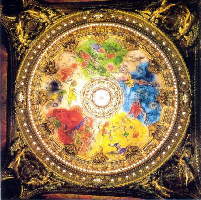 Marc Chagall - Ceiling for the Paris Opera, 1963 -1964, photo credits - Marc Chagall Art
