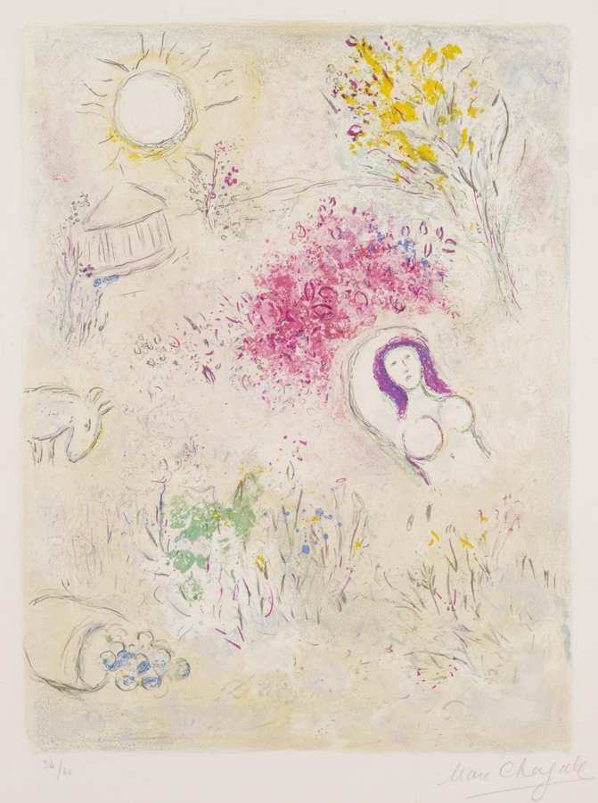 Marc Chagall-Chloe, from Daphnis et Chloe-1961
