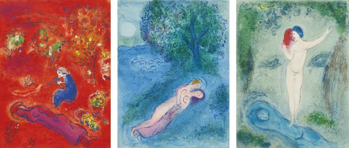 Marc Chagall-Daphnis And Chloe-1961