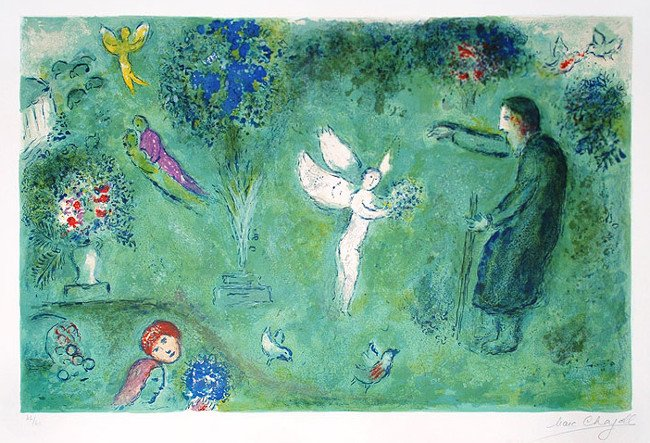 Marc Chagall - Daphnis and Chloe Series, Le Verger de Philetas (Philetas Orchard), photo credits - Master Works Fine Art