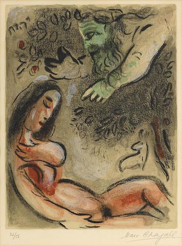 Marc Chagall-Eve maudite par Dieu, from Dessins pour La Bible-1960