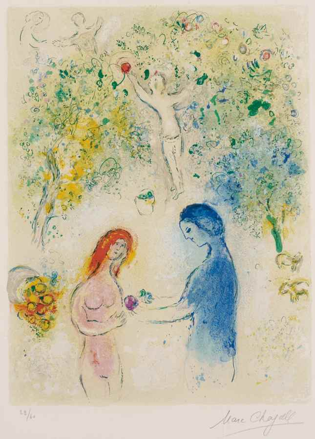 Marc Chagall-Frontispice, from Daphnis et Chloe-1961
