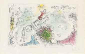 Marc Chagall-L'Ame du Cirque-1980