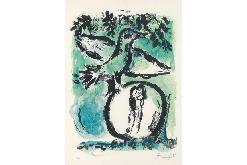 Marc Chagall - L oiseau vert
