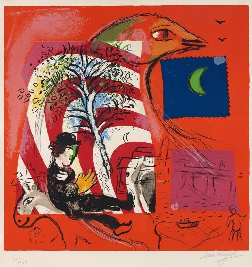 Marc Chagall-L'Arc-en-ciel (The Rainbow)-1969