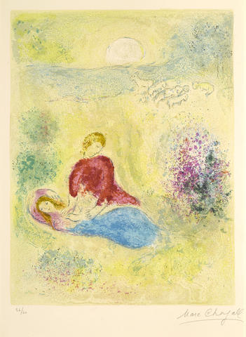 Marc Chagall-L'Arondelle pl. 12 from Daphnis et Chloe-1961