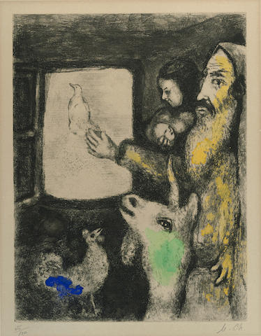 Marc Chagall-La Colombe de l'Arche pl. 1 from La Bible-1939