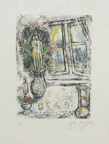 Marc Chagall-La Fenetre entrouverte-1975