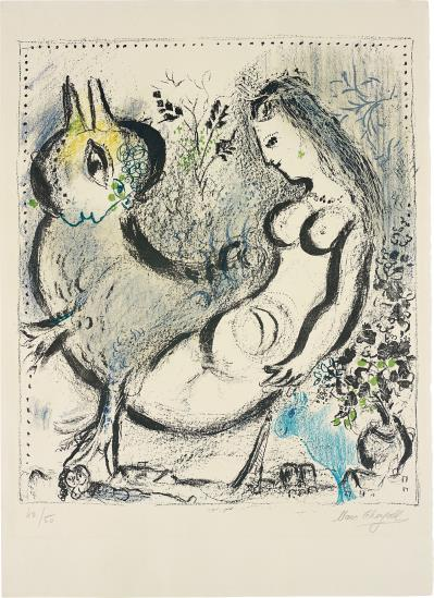 Marc Chagall-La Nymphe bleue (The Blue Nymph)-1962