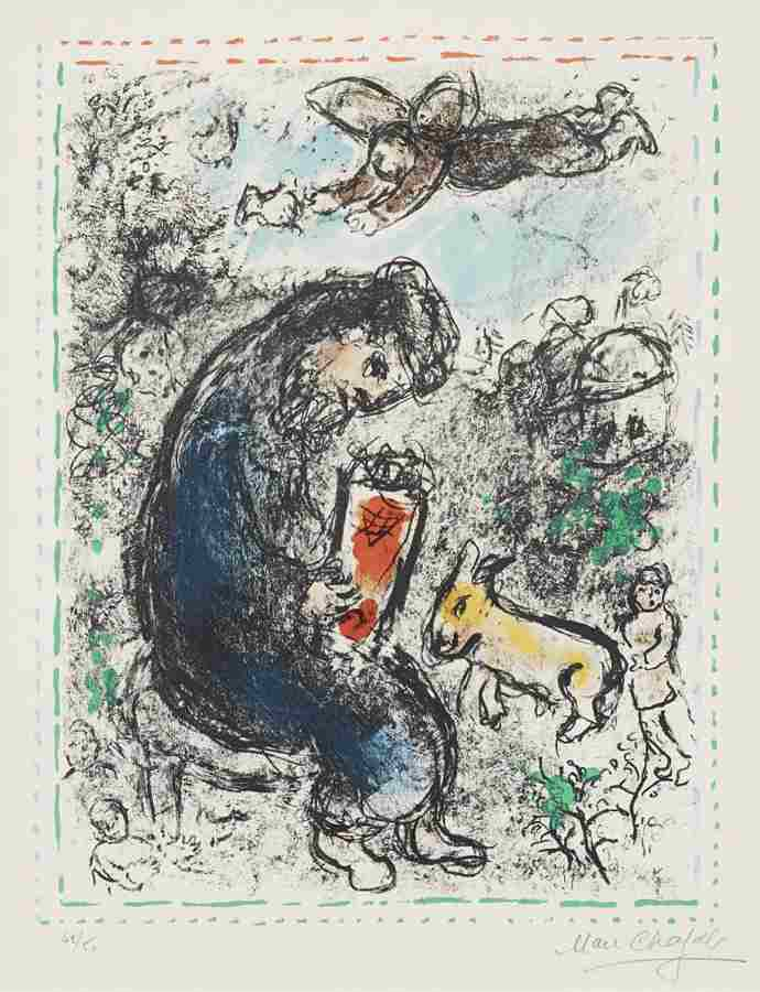 Marc Chagall-La priere (The Prayer)-1983