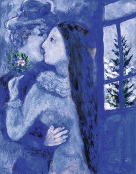 Marc Chagall-Le Baiser Or Les Amoureux En Bleu-1930