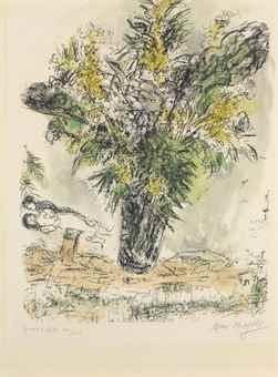 Marc Chagall-Les Mimosas-1968