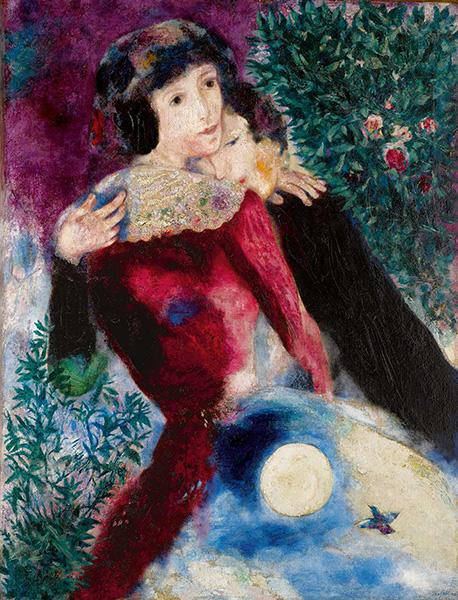 Marc Chagall - Les amoureux, 1928